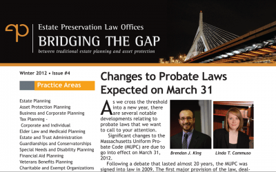 Changes to Probate Laws Expected on March 31