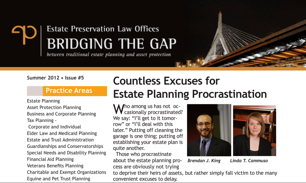 Countless Excuses for Estate Planning Procrastination