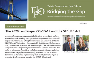 The 2020 Landscape: COVID-19 and the SECURE Act